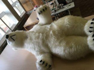 Надувной костюм Мишка белый Inflatable costumes