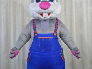 Надувний костюм Заєць в комбінезоні